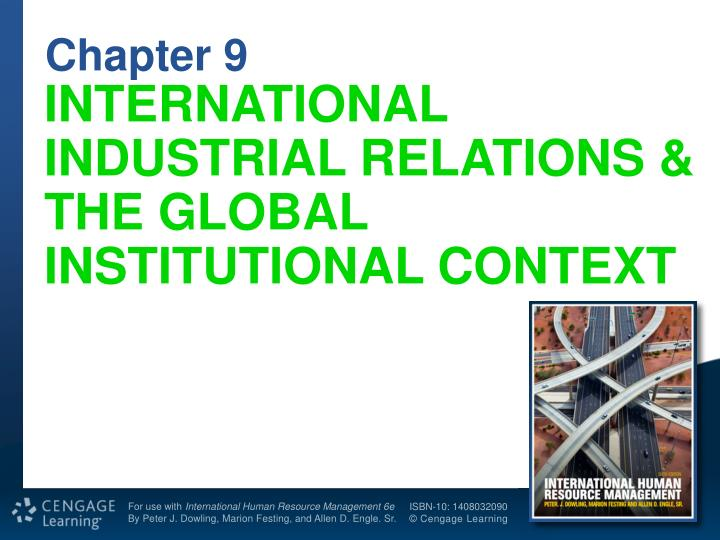 international industrial relations the global institutional context n.