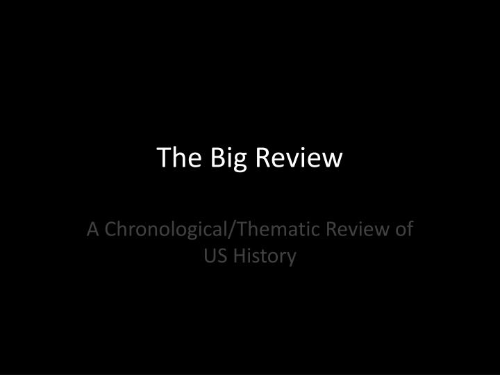 the big review n.