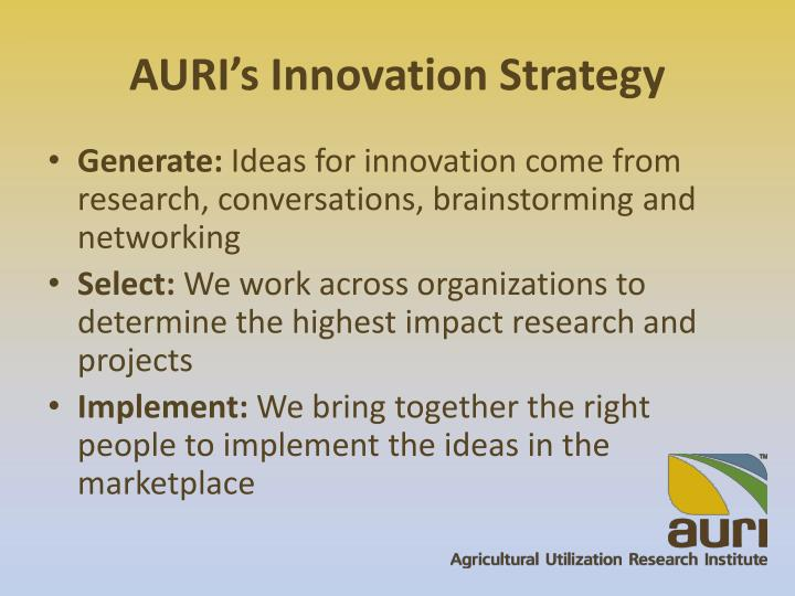 AURI's Innovation Strategy