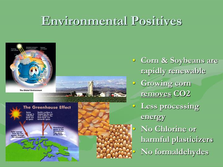 Corn & Soybeans are rapidly renewable