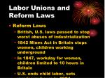 labor unions and reform laws1