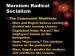 marxism radical socialism1