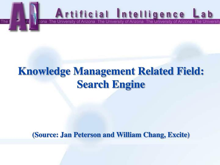 Knowledge Management Related Field: