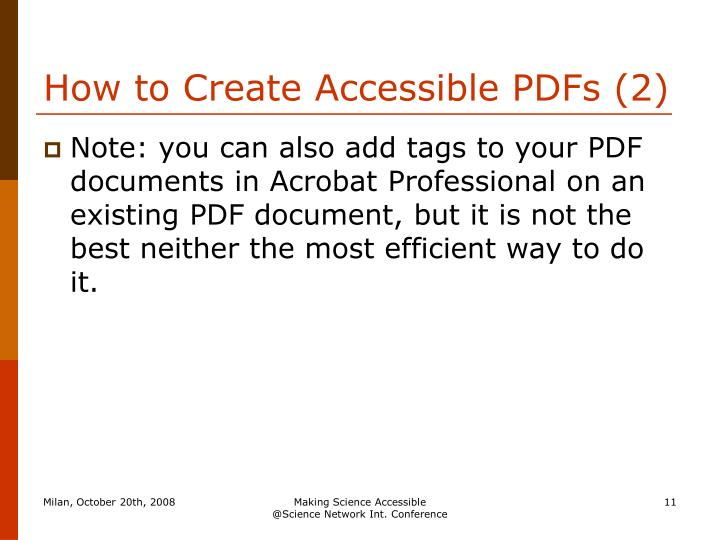 How to Create Accessible PDFs (2)