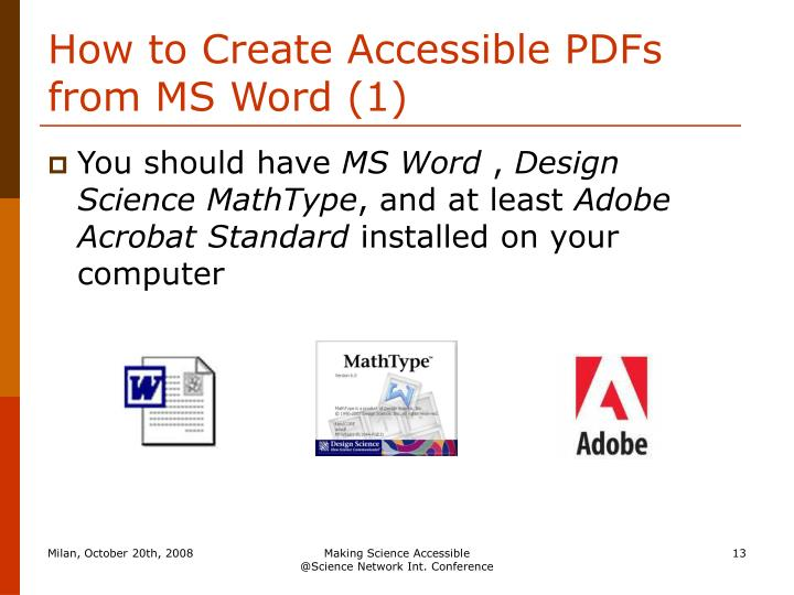 How to Create Accessible PDFs from MS Word (1)