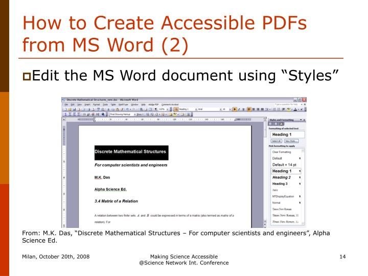 How to Create Accessible PDFs from MS Word (2)