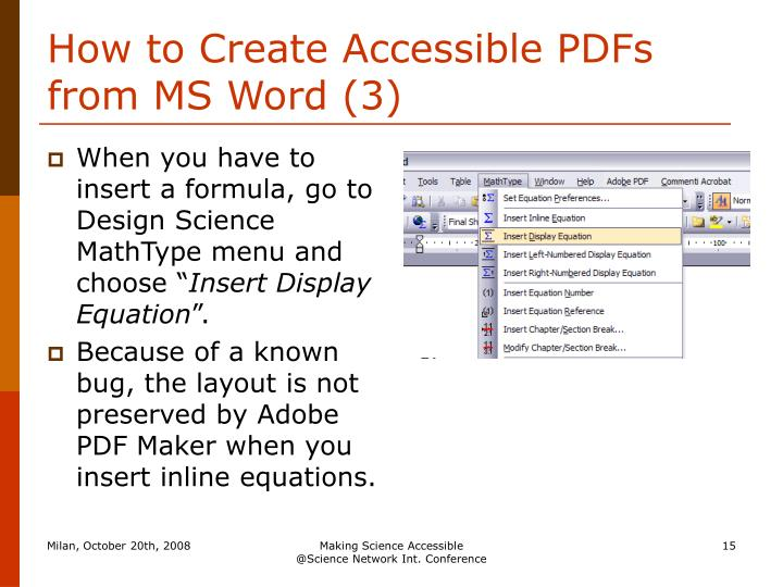 How to Create Accessible PDFs from MS Word (3)
