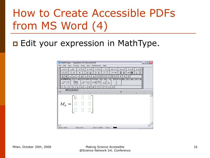 How to Create Accessible PDFs from MS Word (4)