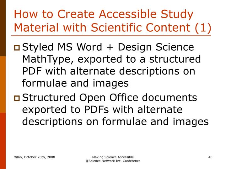 How to Create Accessible Study Material with Scientific Content (1)