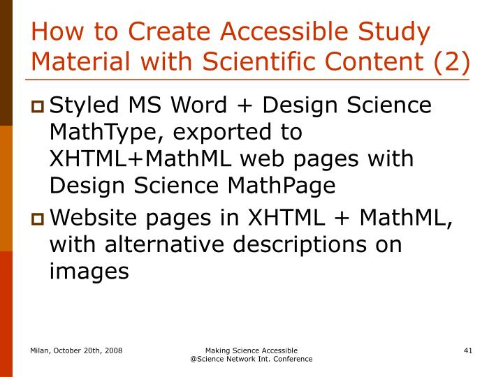 How to Create Accessible Study Material with Scientific Content (2)