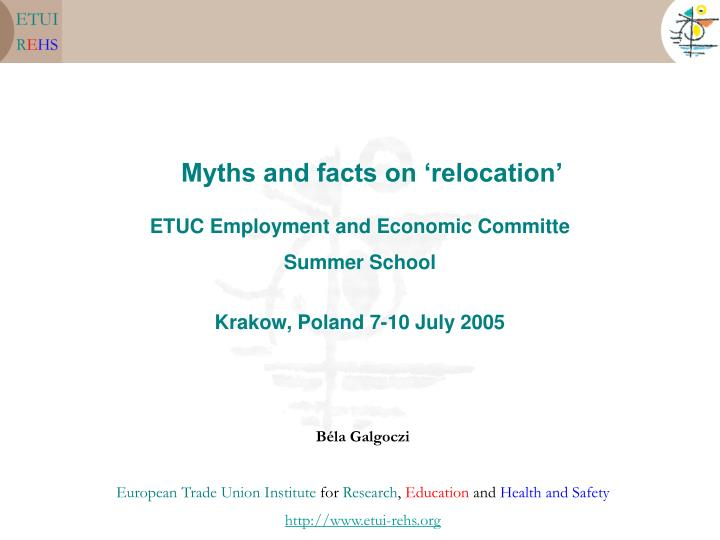 myths and facts on relocation n.