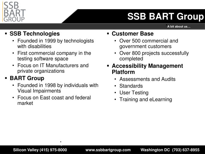 Ssb bart group
