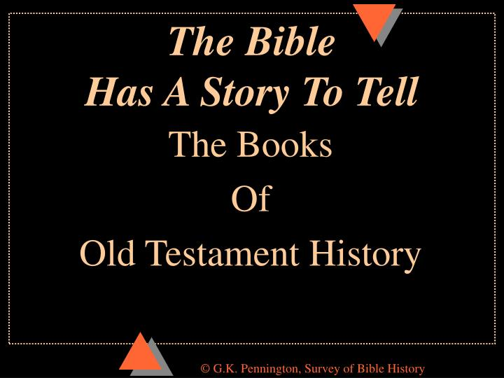 the bible has a story to tell n.
