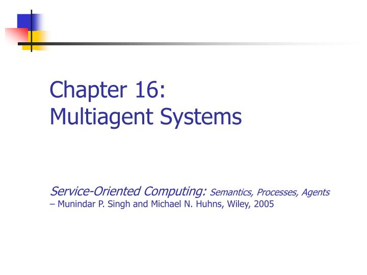 chapter 16 multiagent systems n.