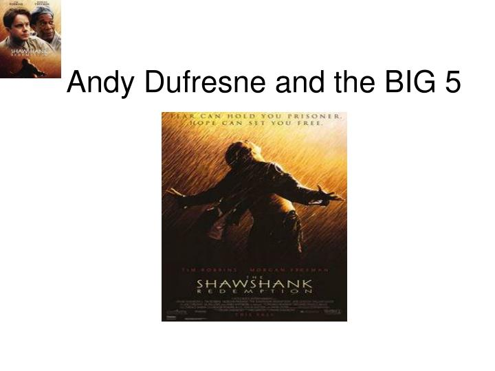 andy dufresne character analysis Andy dufresne back next character analysis whose story is it, anyway there's some question as to whether andy or red is the real protagonist of the story.