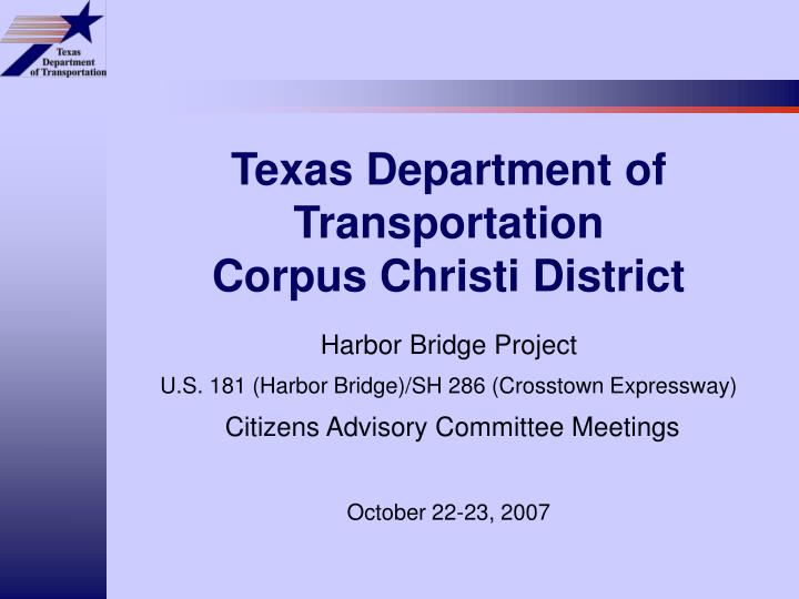 texas department of transportation corpus christi district n.