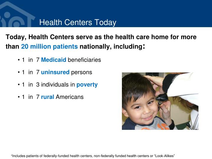 Health centers today