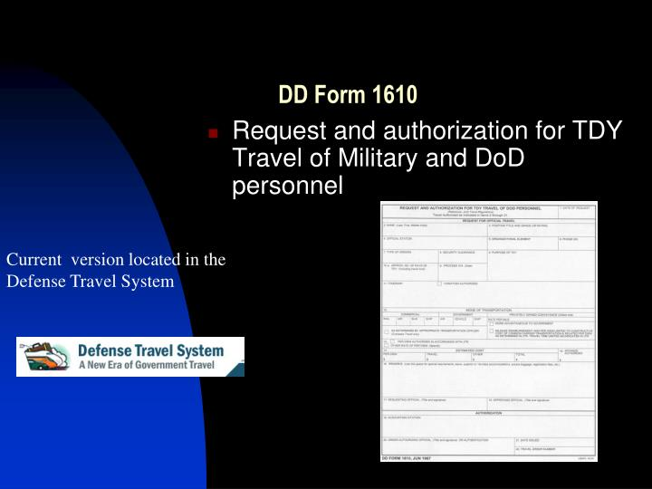 Defense Travel System Training Powerpoint