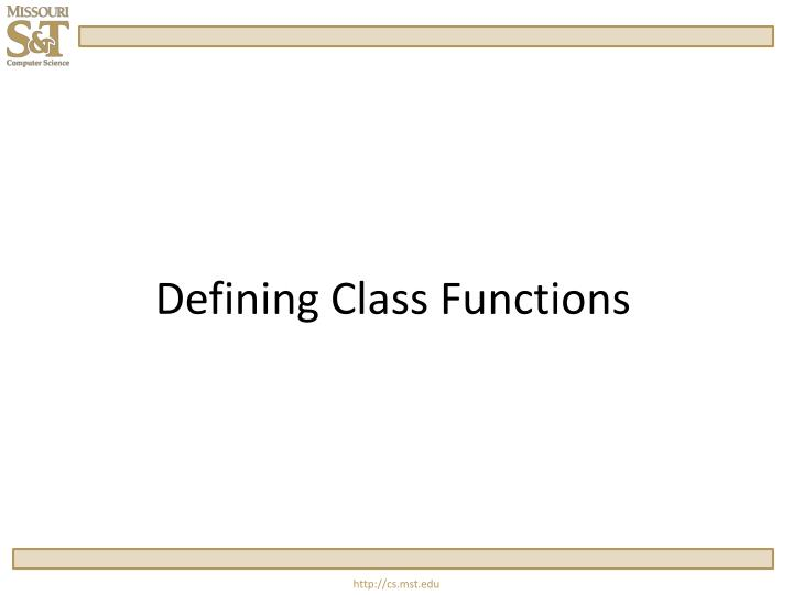 defining class functions n.