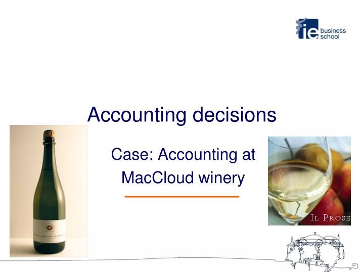 accounting decisions n.