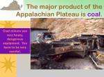 the major product of the appalachian plateau is coal2