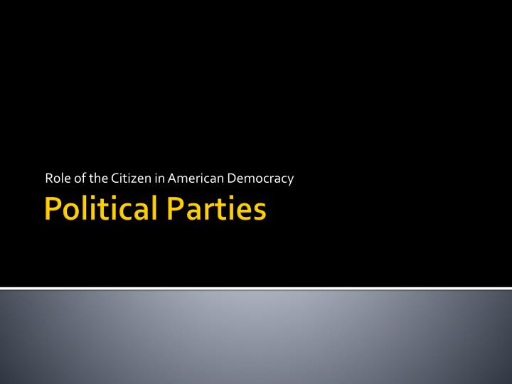 role of the citizen in american democracy n.