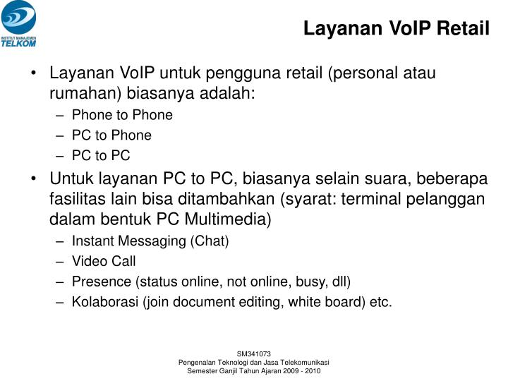 Layanan VoIP Retail