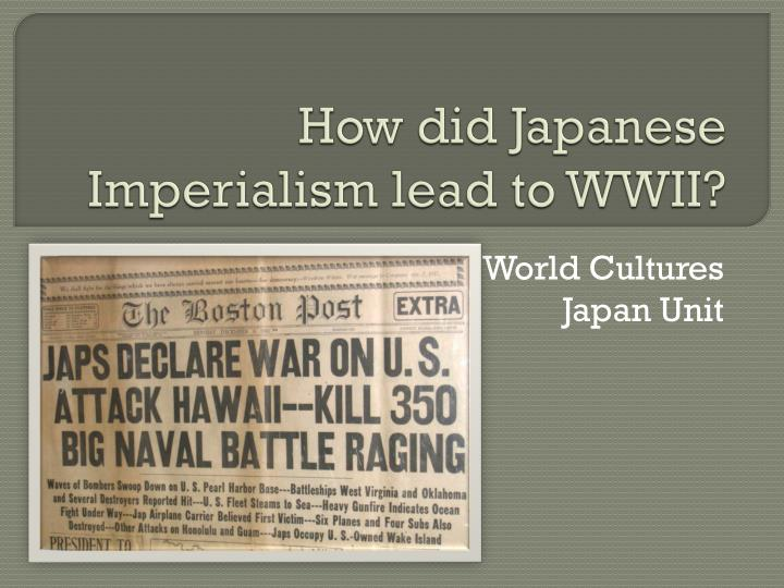how did imperialism lead to world war 1