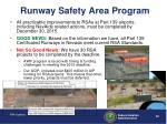 runway safety area program