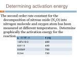 determining activation energy