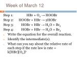 week of march 12