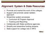 alignment system state resources