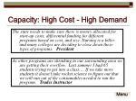 capacity high cost high demand