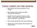 career ladders can help students