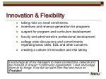 innovation flexibility