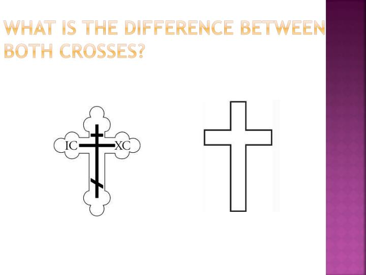 What is the difference between both Crosses?