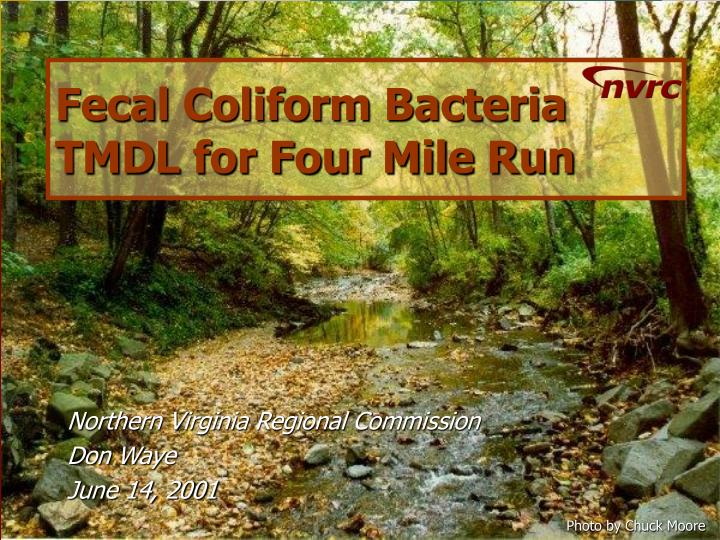 fecal coliform bacteria tmdl for four mile run n.