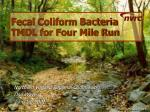fecal coliform bacteria tmdl for four mile run