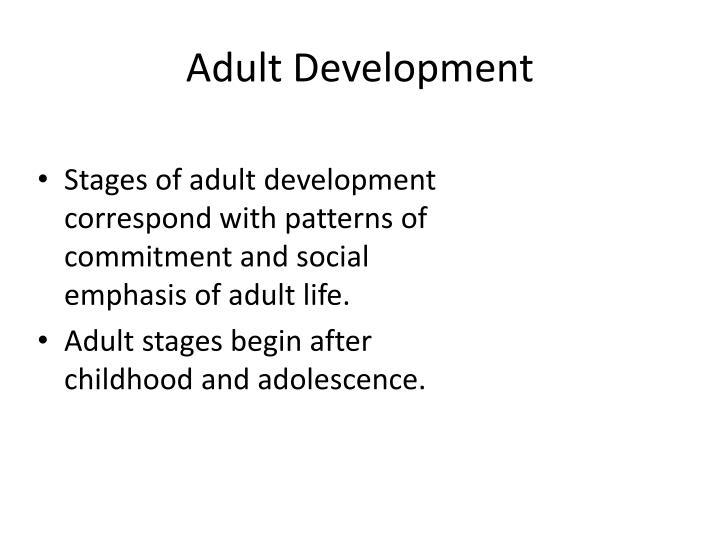 Adult Development