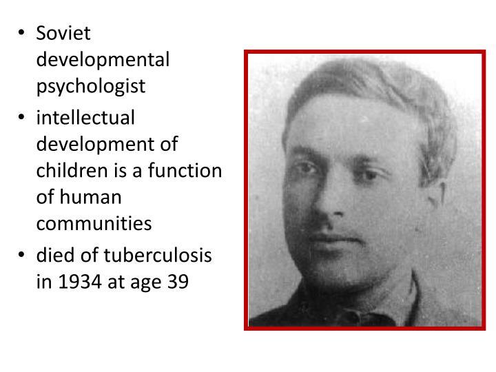 Soviet developmental psychologist