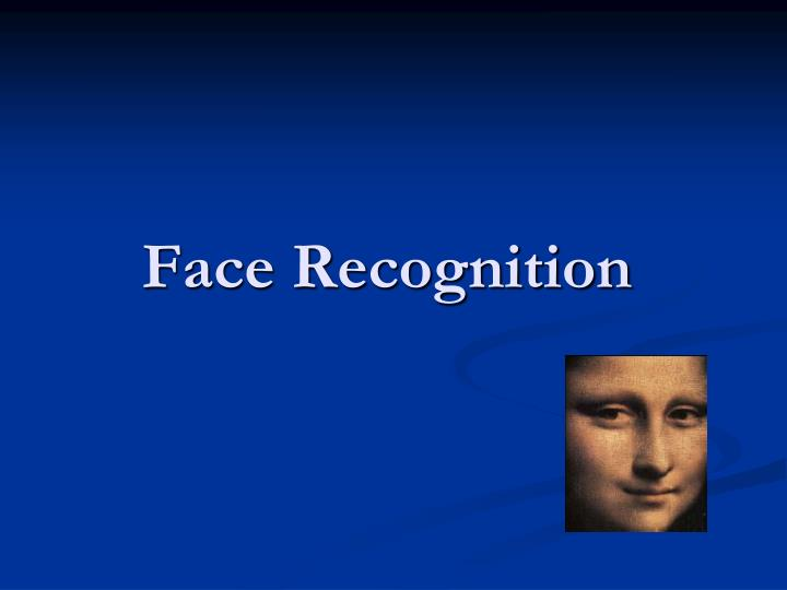 face recognition n.