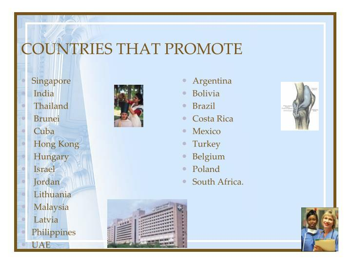 COUNTRIES THAT PROMOTE