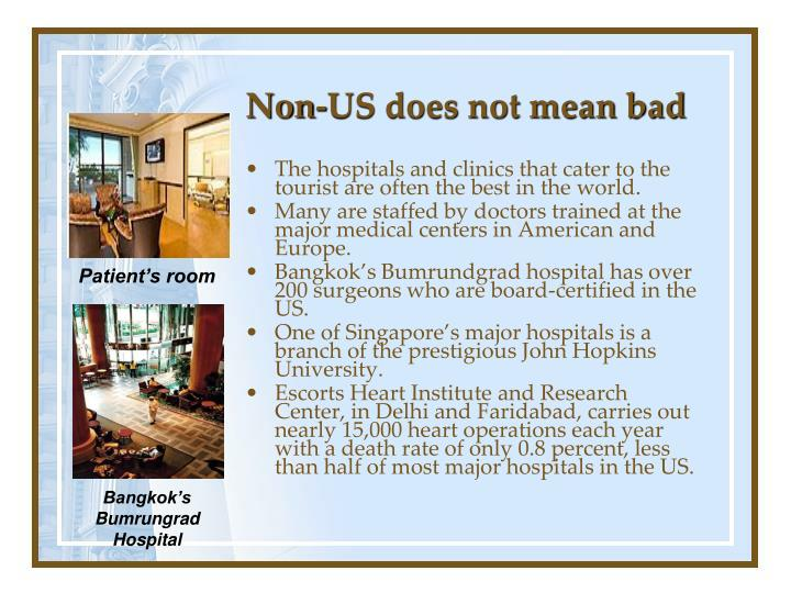 Non-US does not mean bad
