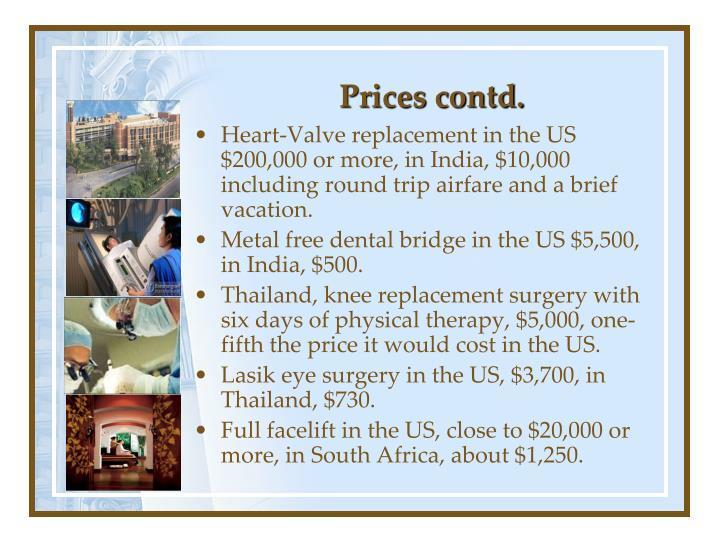 Prices contd.