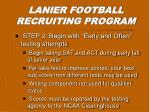 lanier football recruiting program1