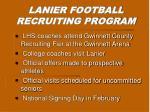 lanier football recruiting program11