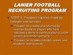 lanier football recruiting program2