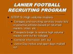 lanier football recruiting program4