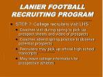 lanier football recruiting program6