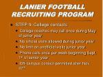 lanier football recruiting program8